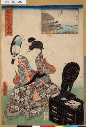 025-C001-009「江戸名所百人美女」 「柳はし」・・-『』