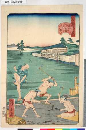 Utagawa Hirokage: 「江戸名所道外盡」 「四十七」「青山宮様御門前」 - Tokyo Metro Library