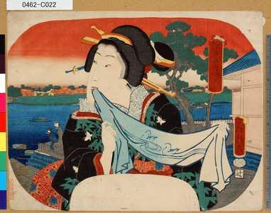 歌川房種: 「江戸名所」 「待乳山」 - 東京都立図書館
