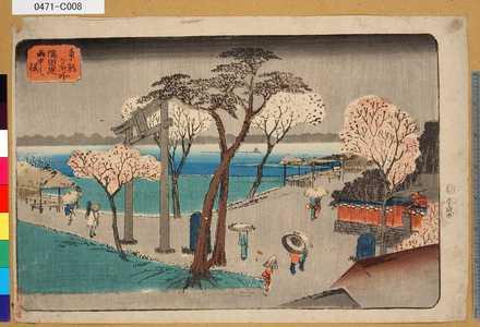 0471-C008「東都名所」 「隅田堤雨中之桜」・・-『』