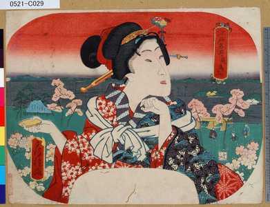 歌川房種: 「江戸名所」 「飛鳥山」 - 東京都立図書館