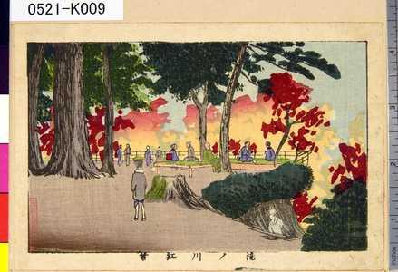 0521-K009「滝ノ川紅葉」 「滝の川紅葉」・・『』