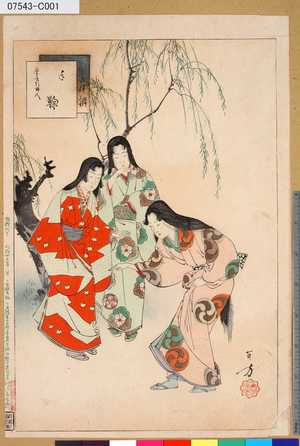 Mizuno Toshikata: 「三十六佳撰」 「手鞠」「慶長頃婦人」 - Tokyo Metro Library