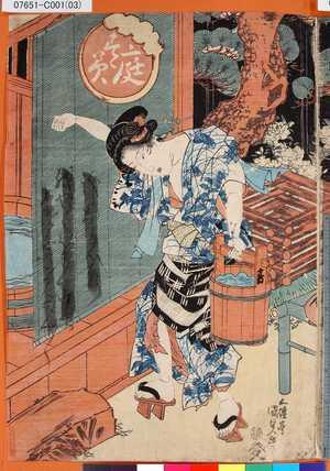 07651-C001(03)「庭すゝみ(年玉枠)」 ・・-『』