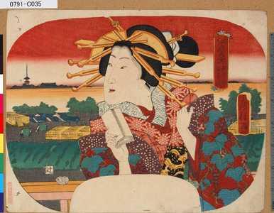 Utagawa Fusatane: 「江戸名所」 「新吉原日本堤」 - Tokyo Metro Library
