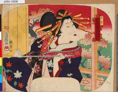 Utagawa Fusatane: 「東都花見八景」 「吉原」 - Tokyo Metro Library