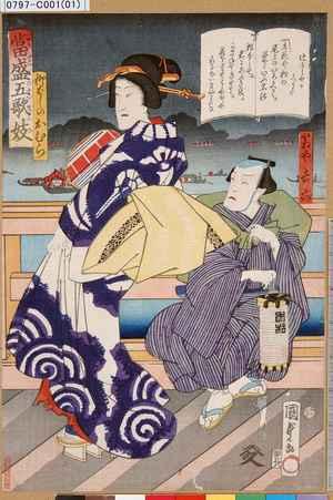 Utagawa Kunisada II: 「当盛五歌妓」「柳ばしのおむら」「箱や吉六」 - Tokyo Metro Library