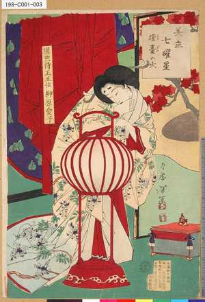 月岡芳年: 「美立七曜星」 「灯台の火」 - 東京都立図書館