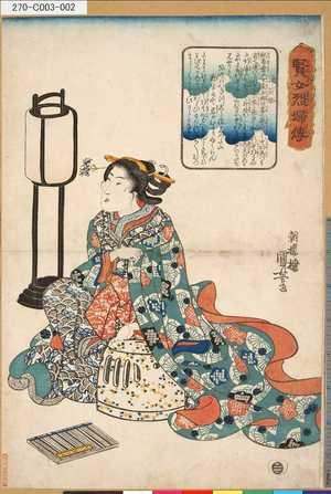 歌川国芳: 「賢女烈婦伝」 「井筒姫」 - 東京都立図書館