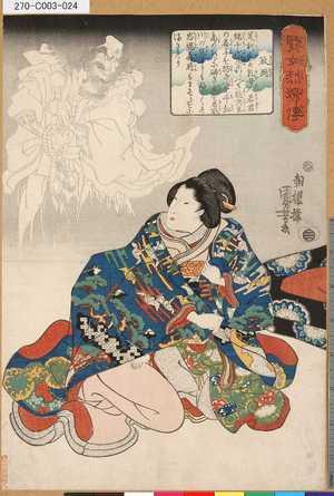 歌川国芳: 「賢女烈婦伝」 「政岡」 - 東京都立図書館