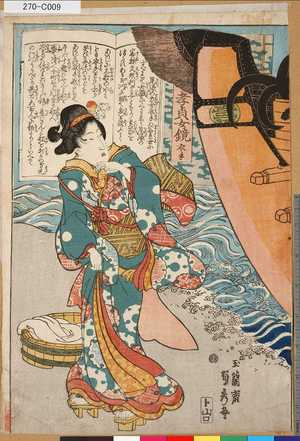 Utagawa Sadahide: 「孝貞女鏡」 「衣手」 - Tokyo Metro Library