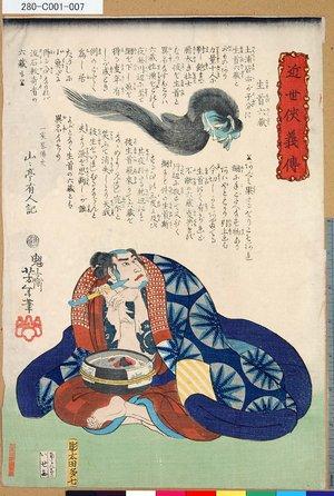 Tsukioka Yoshitoshi: 「近世侠義伝」 「生首六蔵」 - Tokyo Metro Library
