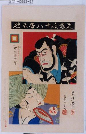忠清: 「歌舞伎十八番 不破」「不破伴左衛門 九世市川団十郎」「名古屋」 - Tokyo Metro Library