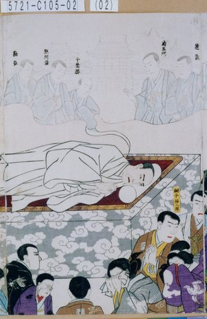 Unknown: 「芝翫」「菊五郎」「千葉勝」「黙阿弥」「勘弥」「嗣子福三郎」 - Tokyo Metro Library