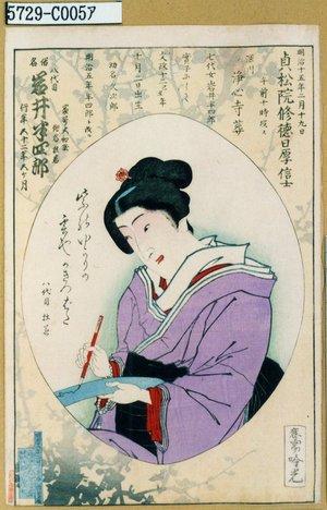 Adachi Ginko: 「俗名 八代目岩井半四郎」 - Tokyo Metro Library
