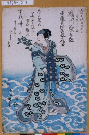 5729-C018「瀬川菊之丞」 天保03・01・(死絵)『』