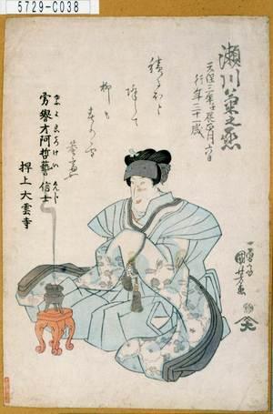 Utagawa Kuniyoshi: 「瀬川菊之丞」 - Tokyo Metro Library