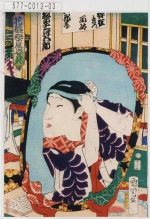 Toyohara Kunichika: 「花盛楽屋姿見」「坂東三津五郎」 - Tokyo Metro Library