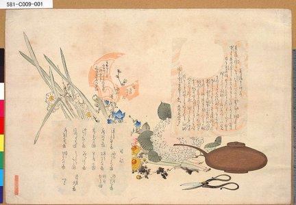 581-C009-001「茶の湯日々草序目録」 「茶の湯日々草」「目録他」・・『』