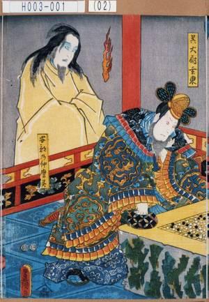 Utagawa Kunisada: 「呉大尉玄東」「安倍の仲麿霊」 - Tokyo Metro Library