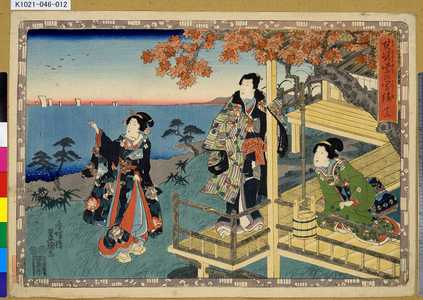 歌川国貞: 「其姿紫の写絵」 「十二」 - 東京都立図書館