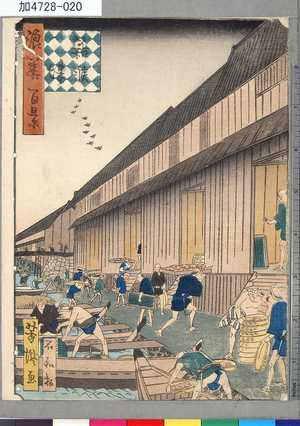 芳瀧: 「浪華百景」 「雑喉場」 - 東京都立図書館