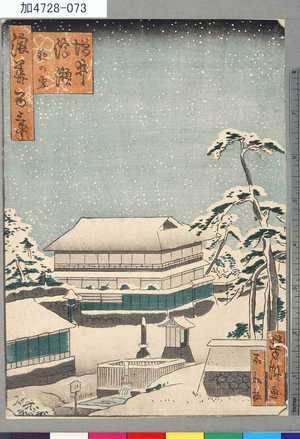 芳瀧: 「浪華百景」 「増井浮瀬夜の雪」 - Tokyo Metro Library
