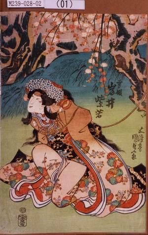 M239-028-02(01)「雪姫 岩井紫若」 天保11・08・02市村『御贔屓握虎木下』