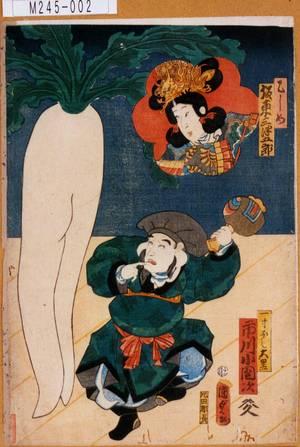 Utagawa Kunisada II: 「乙しめ 坂東三津五郎」「一寸ほし大黒 市川小団次」 - Tokyo Metro Library
