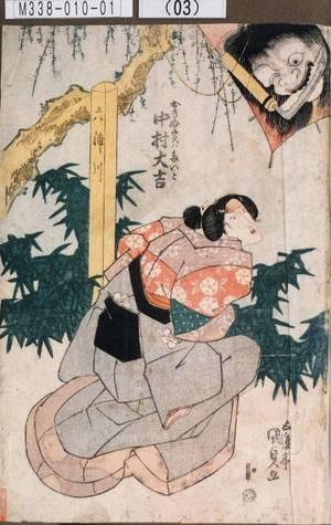 Utagawa Kunisada: 「おきぬ実ハたいと 中村大吉」 - Tokyo Metro Library