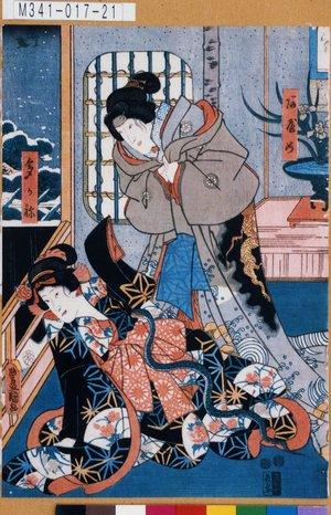 M341-017-21「あやめ、たかね」 嘉永05・07・25河原崎座『児雷也豪傑譚語』