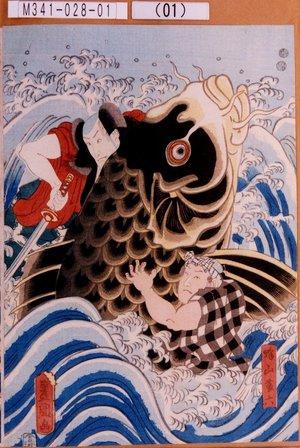 M341-028-01(01)「蜂山藤六」 嘉永02・06・15河原崎座『天竺徳兵衛韓噺』