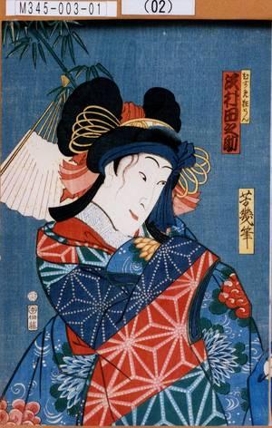 落合芳幾: 「むすめ狂らん 沢村田之助」 - 東京都立図書館