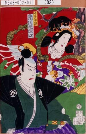 Toyohara Chikanobu: 「本多平八郎 市川左団次」 - Tokyo Metro Library