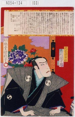 Utagawa Kunisada III: 「大星由良之助 市川団十郎」 - Tokyo Metro Library