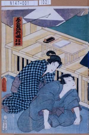 Utagawa Kunisada: 「与三郎一代咄 藤綱屋舗」 - Tokyo Metro Library