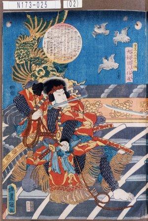 歌川国貞: 「里見八犬士之一個」「犬飼現八信道」 - 東京都立図書館