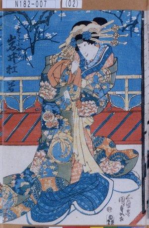 N182-007(02)「はかた小女郎 岩井杜若」 天保11・08・中村『恋湊博多諷』