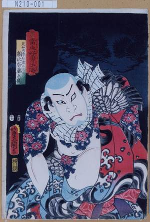 N210-001「当世好男子伝」「花和尚魯智深に比す朝比奈藤兵衛」 ・07・(見立)『』