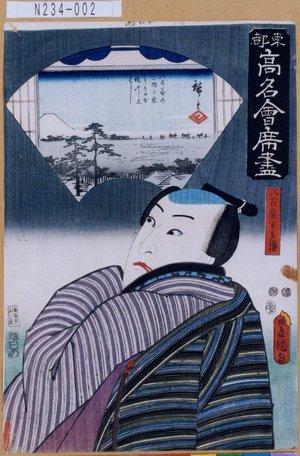 Utagawa Kunisada: 「東都高名会席尽」「八百屋半兵衛」 - Tokyo Metro Library