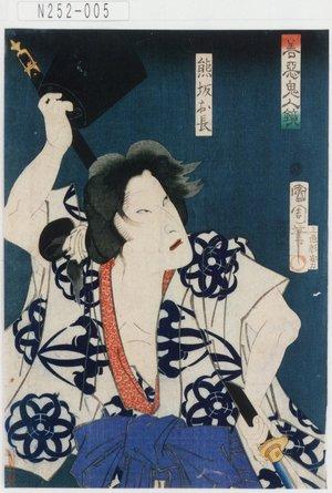 Toyohara Kunichika: 「善悪鬼人鏡」「熊坂お長」 - Tokyo Metro Library