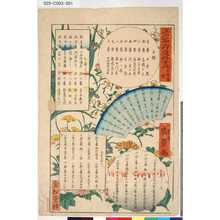 Utagawa Hirokage: 「江戸名所道外盡」 「五拾番続」「目録」 - Tokyo Metro Library