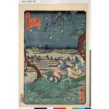 Utagawa Hirokage: 「江戸名所道外盡」 「二十」「道灌山虫聞」 - Tokyo Metro Library