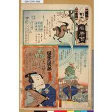 Utagawa Hiroshige III: 「江戸廼花名勝會」 「二番組」「せ」「中ばし」「古法眼元信 坂東三津五郎」 - Tokyo Metro Library