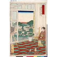 一景: 「東京名所四十八景」 「柳原写真所三階より御茶の水遠景」 - 東京都立図書館
