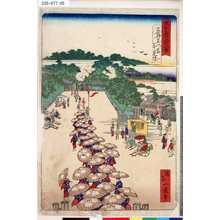 Ikkei: 「東京名所四十八景」 「上野黒門前花見連」 - Tokyo Metro Library