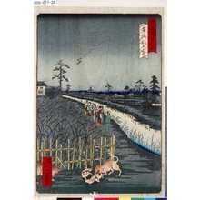 一景: 「東京名所四十八景」 「本所割下水」 - 東京都立図書館