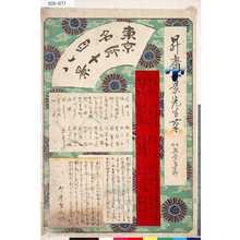 Ikkei: 「東京名所四十八景」 〔目録〕 - Tokyo Metro Library