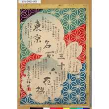 Utagawa Hiroshige II: 「東京名所三十六花撰」[目録] - Tokyo Metro Library