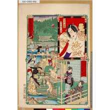 Kawanabe Kyosai: 「東京開化名所記」 「王子稲荷社」「狐忠信 芝翫」 - Tokyo Metro Library